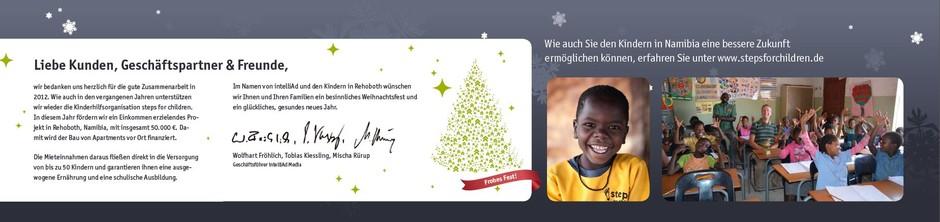 Unsere Weihnachtskarte für unsere Partner und Kunden