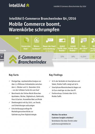 Cover E-Commerce Branchenindex Q4/2016