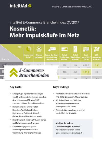 E Commerce Branchenindex Q1 2017 Titelseite