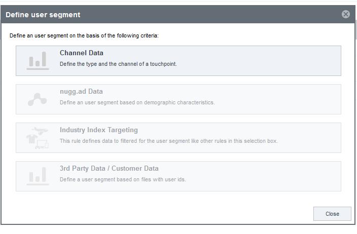 Define user segment