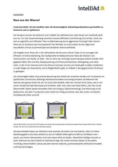 Fachartikel von intelliAd CEO Frank Rauchfuß über die Notwendigkeit, Marketingmaßnahmen ganzheitlich zu bewerten und optimieren