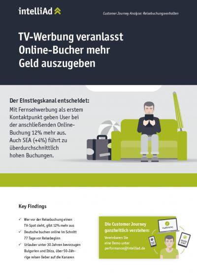 Customer Journey Analyse: TV- Werbung veranlasst Online-Bucher mehr Geld auszugeben