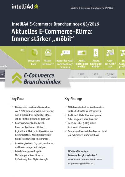 E-Commerce Branchenindex Q3 | 2016
