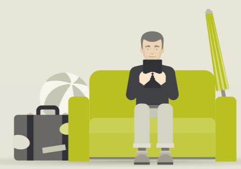 Device-Nutzung auf der Couch