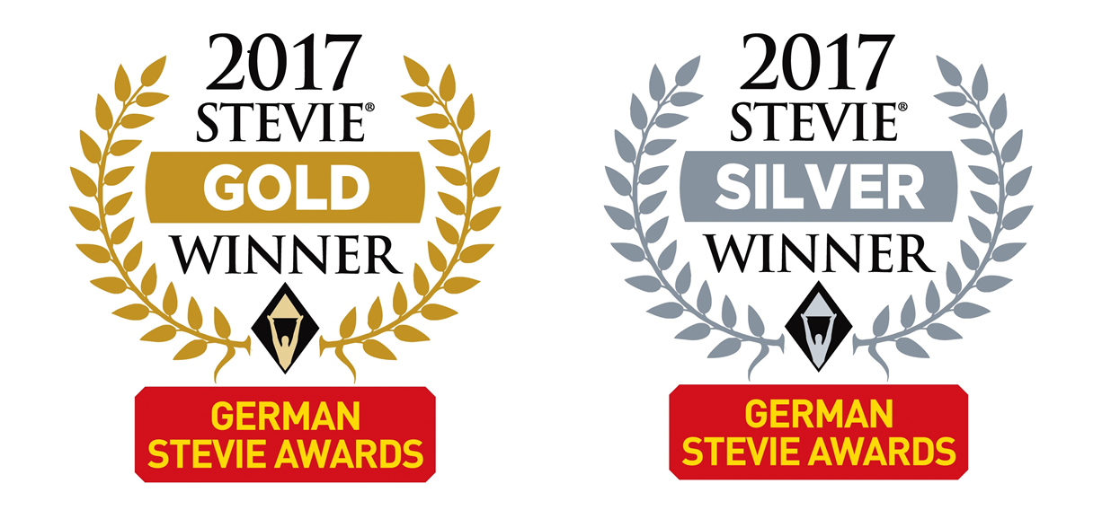 German Stevie Award Gold Silber