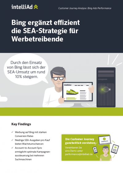 Customer Journey Analyse zum Thema Bing Ads